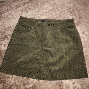 Forever 21 Green Cord Skirt